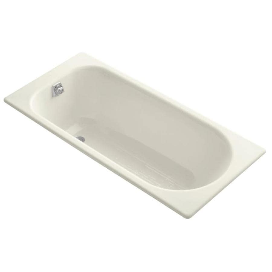 Shop KOHLER Soissons 59 In Biscuit Cast Iron Drop In