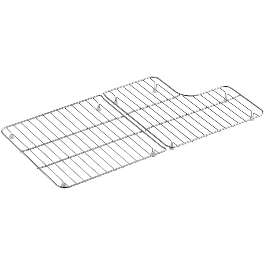 kohler 14 5 in x 14 6875 in stainless steel sink grid lowes com