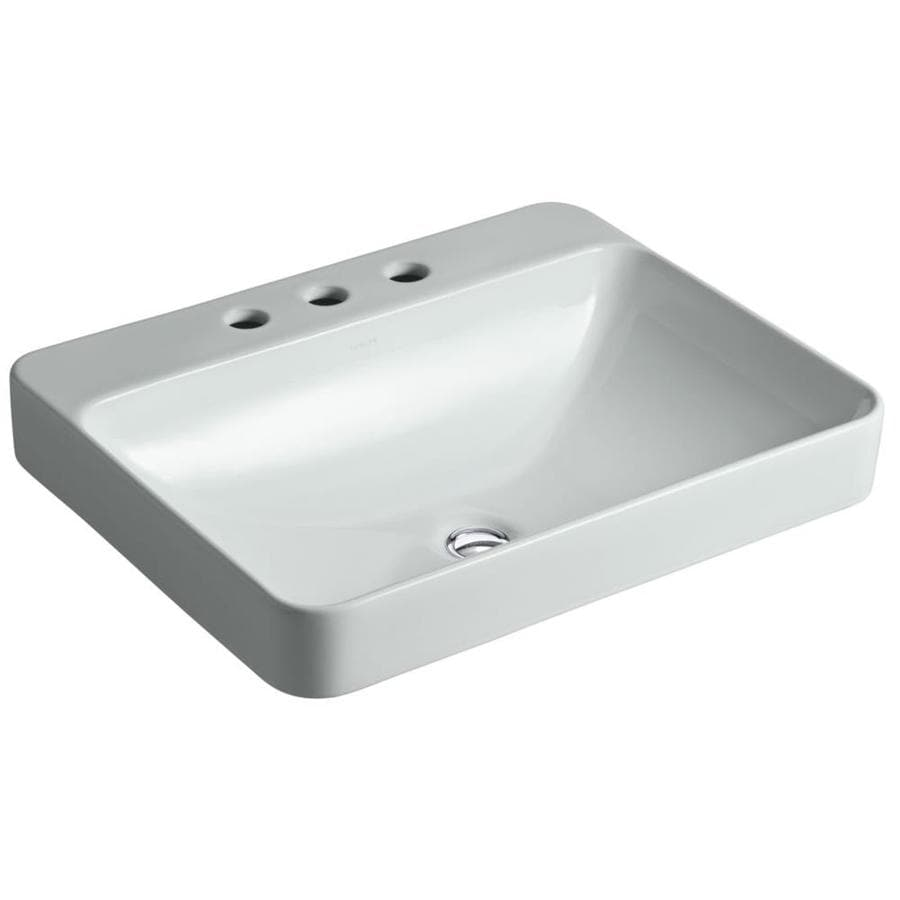 Shop KOHLER Vox Rectangle Ice Grey Vessel Rectangular