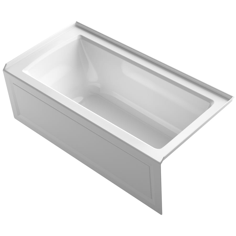 Shop KOHLER Archer 60 In White With Right Hand Drain At