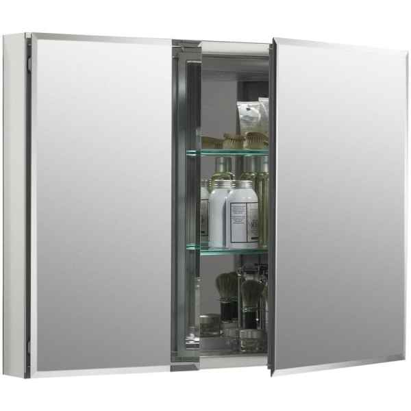 Kohler 35-in X 26-in Rectangle Recessed Mirrored Medicine Cabinet