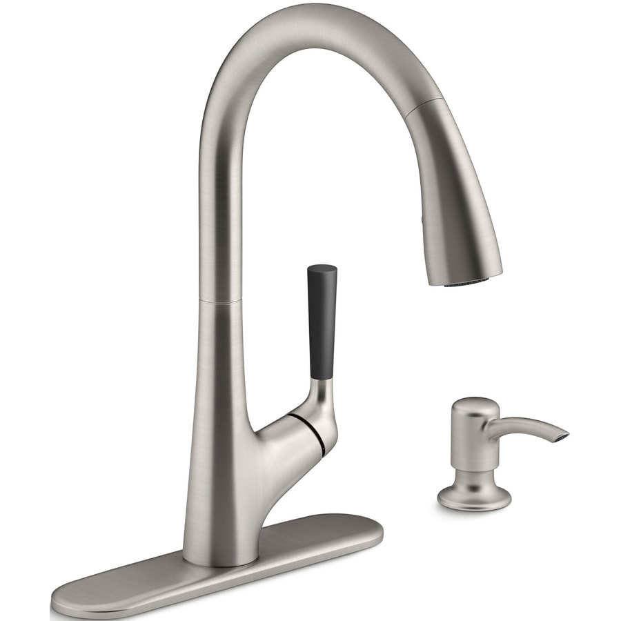 Shop KOHLER Malleco Vibrant Stainless 1Handle PullDown