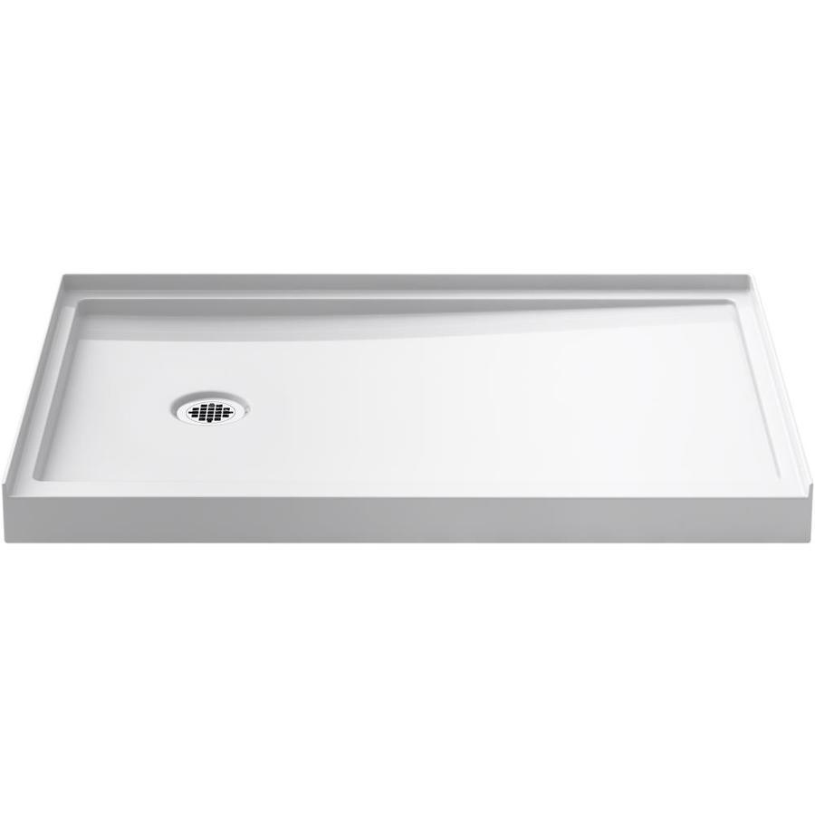 Shop KOHLER Rely White Acrylic Shower Base 32