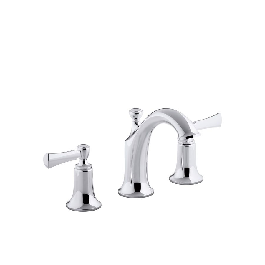 KOHLER Elliston Polished Chrome 2handle Widespread WaterSense Bathroom Sink Faucet with Drain