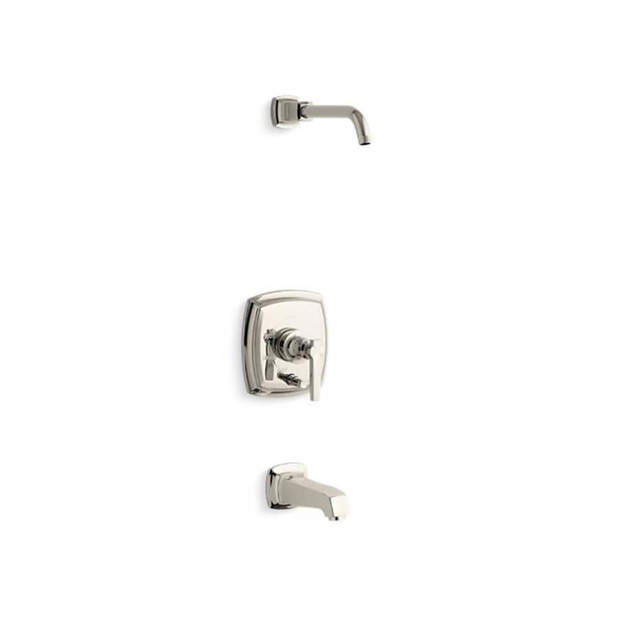 kohler margaux vibrant polished nickel 1 handle bathtub and shower faucet