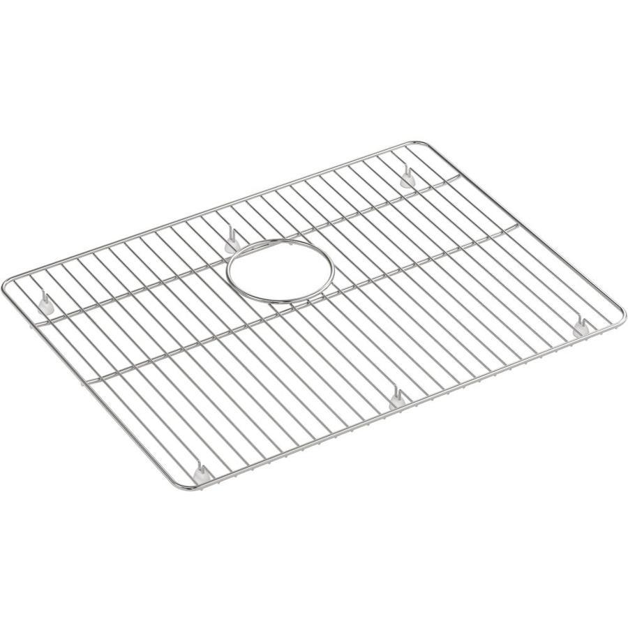 https www lowes com pd kohler kennon stainless steel sink rack 20 3125 in x 15 1875 in 1002794372