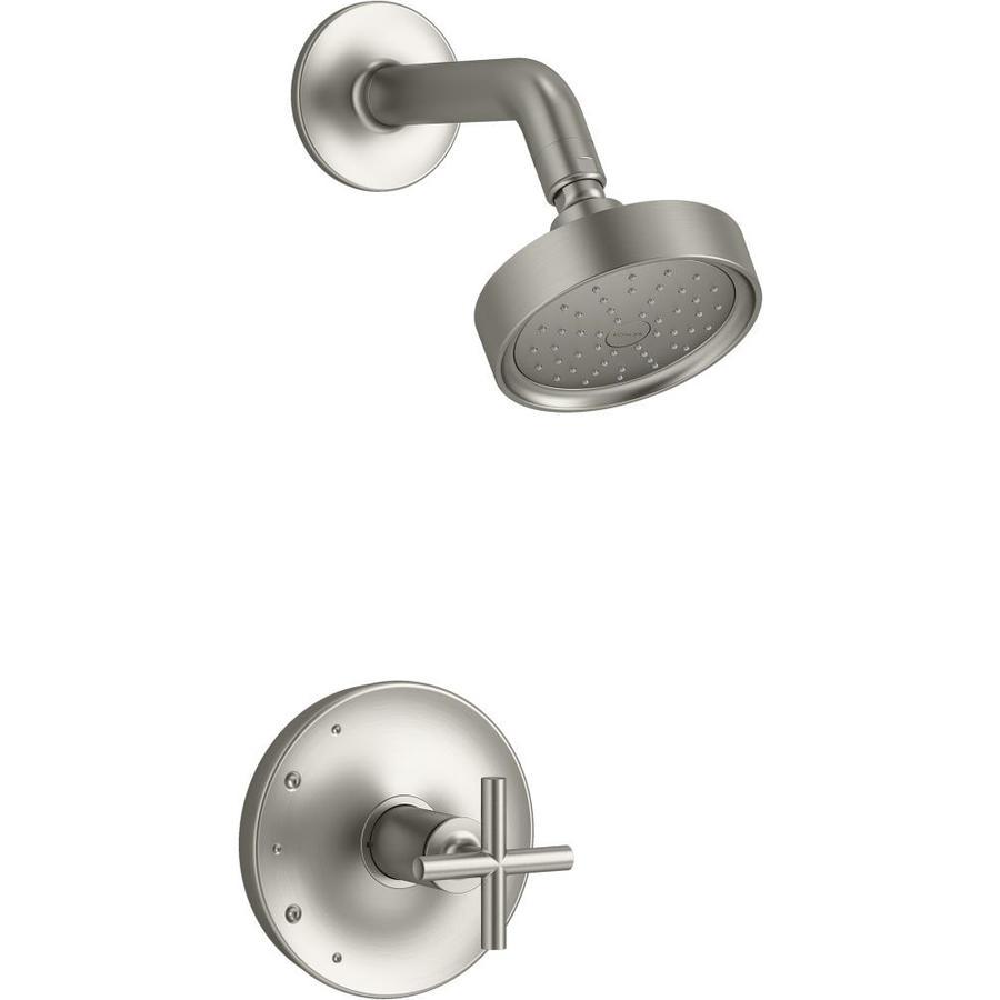 kohler purist vibrant brushed nickel 1 handle shower faucet