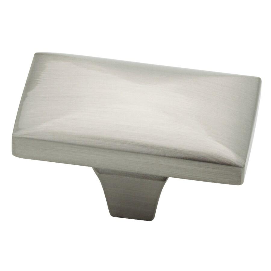 kitchen cabinet knobs furniture pantry brainerd beverly collection satin nickel rectangular knob at
