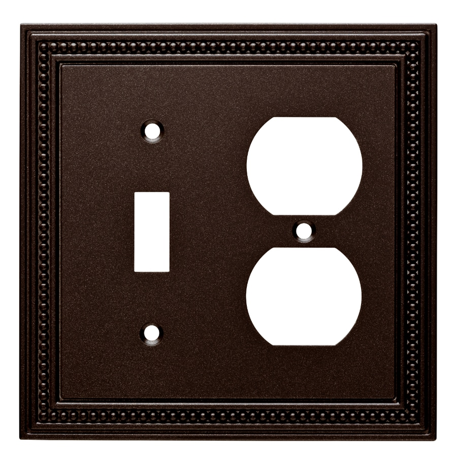 Brainerd Beaded 2 Gang Cocoa Bronze Single Wall Plate At