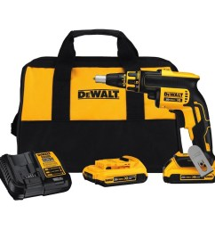 dewalt xr 20 volt max lithium ion brushless screw gun kit [ 900 x 900 Pixel ]
