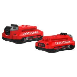 CRAFTSMAN V20 2-Pack 20-Volt Max 2-Amp-Hours Lithium Power Tool Battery