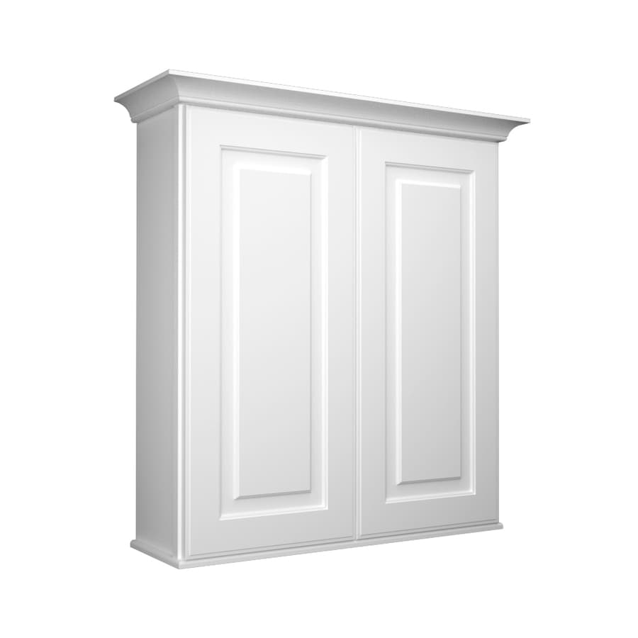 Wall Cabinets For Bathrooms Kraftmaid 27 In W X 30 In H X 8 In D White Bathroom Wall Cabinet