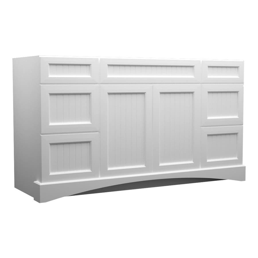 48 Bathroom Vanity Cabinet Kraftmaid 48 In White Bathroom Vanity Cabinet At Lowes