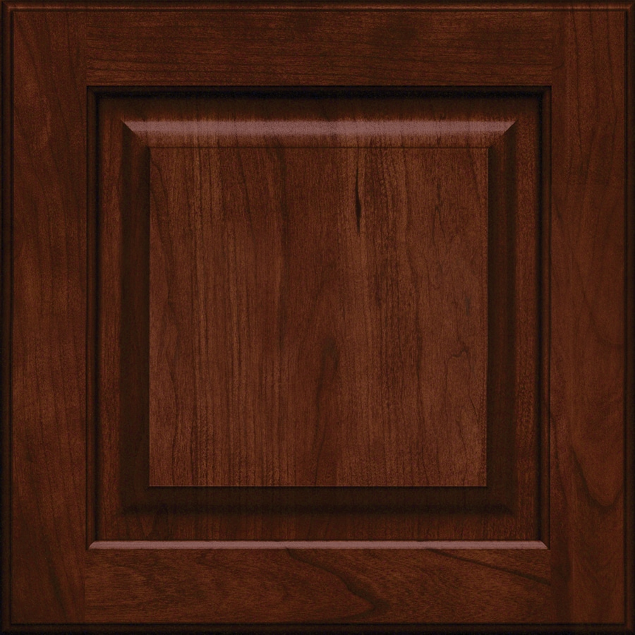 Shop KraftMaid Montclair 15 In X 15 In Kaffe Cherry Raised Panel