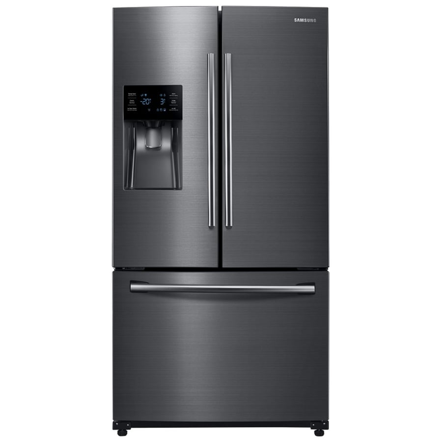medium resolution of samsung 24 6 cu ft french door refrigerator with dual ice maker fingerprint resistant black stainless steel black stainless steel energy star