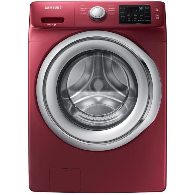 Samsung 4.5-cu ft High Efficiency Stackable Front-Load Washer (Merlot) ENERGY STAR