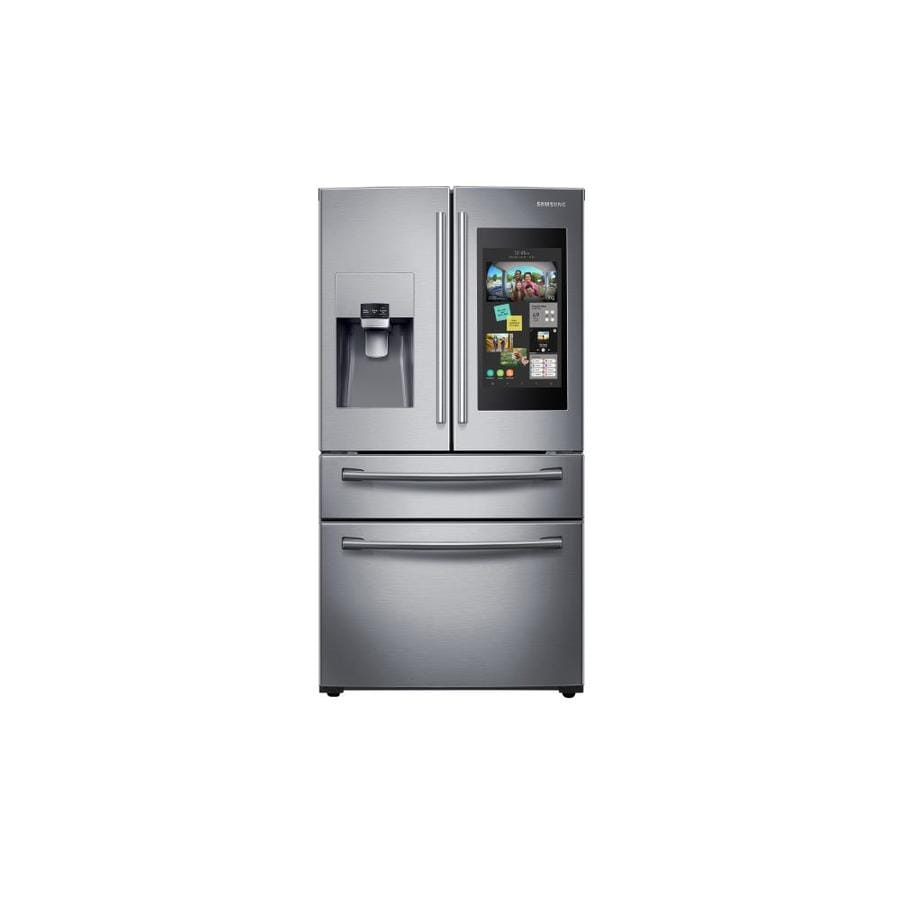 hight resolution of samsung family hub family hub 27 7 cu ft 4 door french door refrigerator with ice maker stainless steel stainless steel energy star