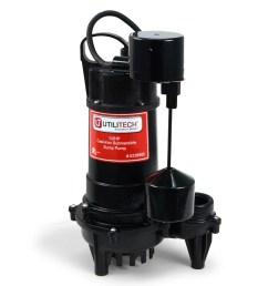 utilitech 0 5 hp cast iron submersible sump pump [ 900 x 900 Pixel ]