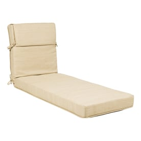 lounge chair cushions cheap heavy duty rocking patio chaise cushion furniture at lowes com allen roth wheat