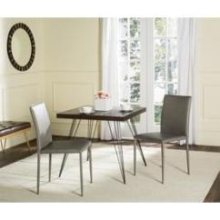 Safavieh Dining Chairs Lane Leather Chair At Lowes Com Set Of 2 Karna Contemporary Gray Side