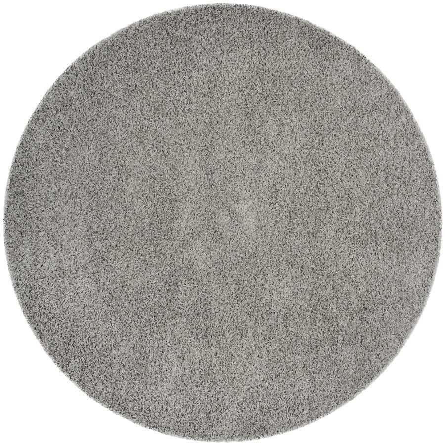 Safavieh Athens Shag Light Gray Round Indoor Area Rug