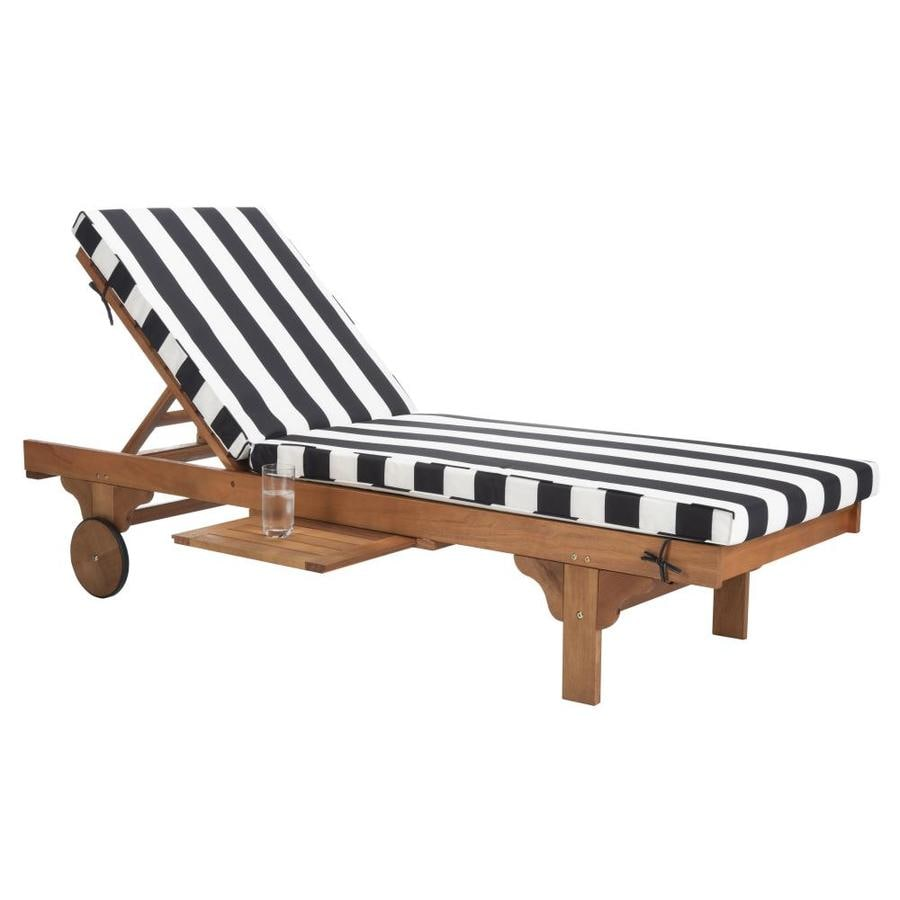 White Outdoor Lounge Chair Safavieh Newport Wood Stationary Chaise Lounge Chair With Black