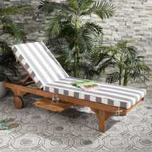 Safavieh Newport Eucalyptus Chaise Lounge Chair With Gray