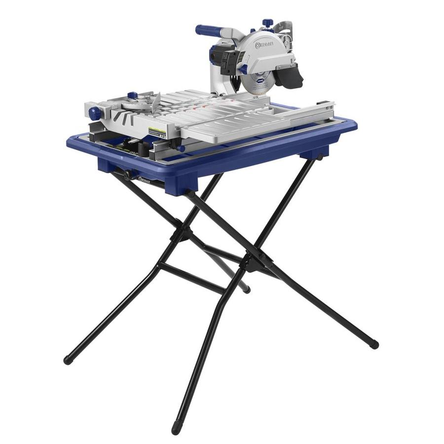 kobalt 7 in wet tabletop sliding table tile saw with stand
