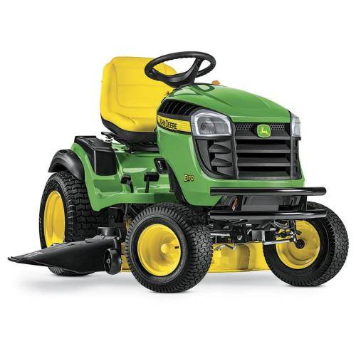 small resolution of john deere e170 25 hp v twin side by side hydrostatic 48 in riding lawn mower with mulching capability kit sold separately
