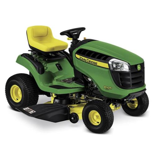 small resolution of john deere d105 17 5 hp automatic 42 in riding lawn mower mulching capable