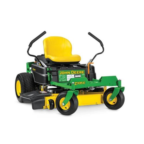 small resolution of john deere z335e 20 hp v twin dual hydrostatic 42 in zero turn lawn mower with mulching capability kit sold separately