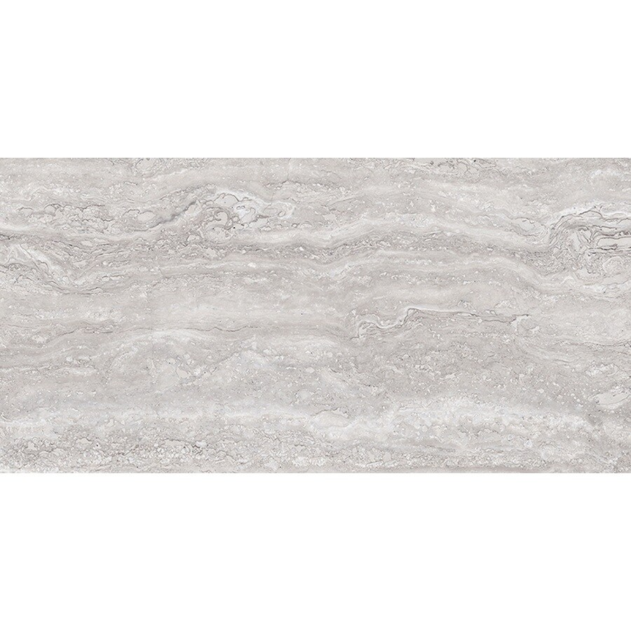 style selections torin gray 12 in x 24 in polished porcelain marble look floor and wall tile