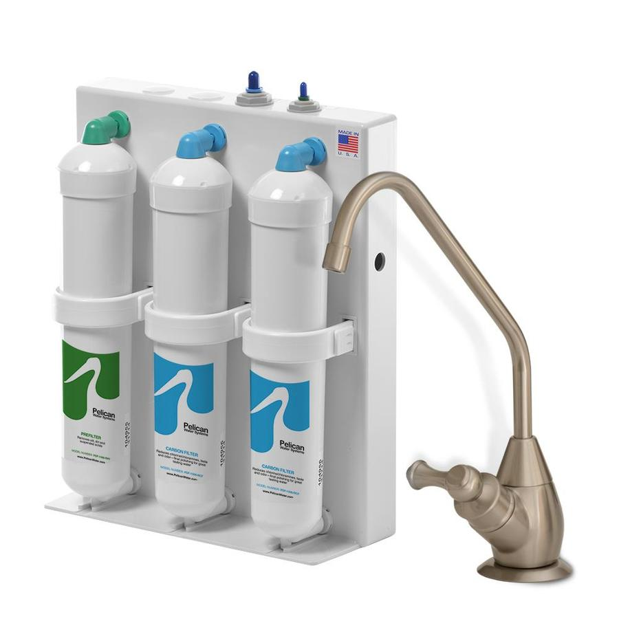 pelican water under counter filter system triple stage gac under sink water filtration system