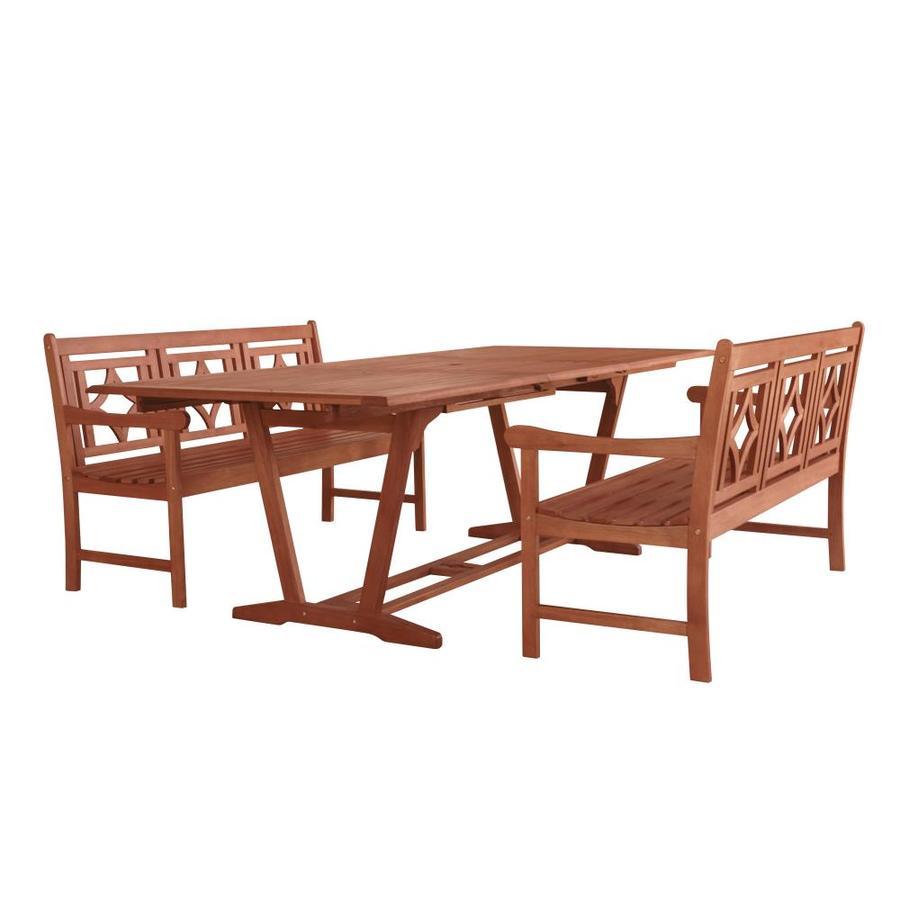 vifah vifah malibu 3 piece tan frame patio set with