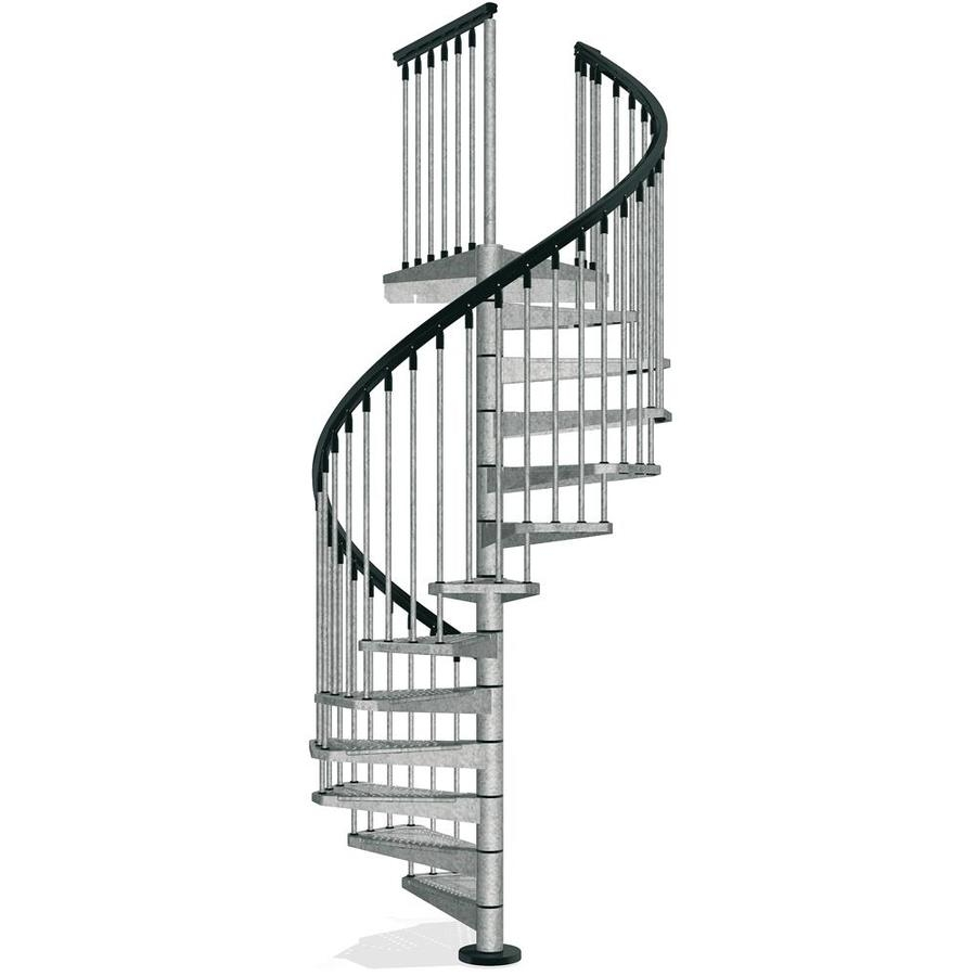 Arke Enduro 55 In X 10 Ft Gray Spiral Staircase Kit At | Spiral Staircase 10 Feet