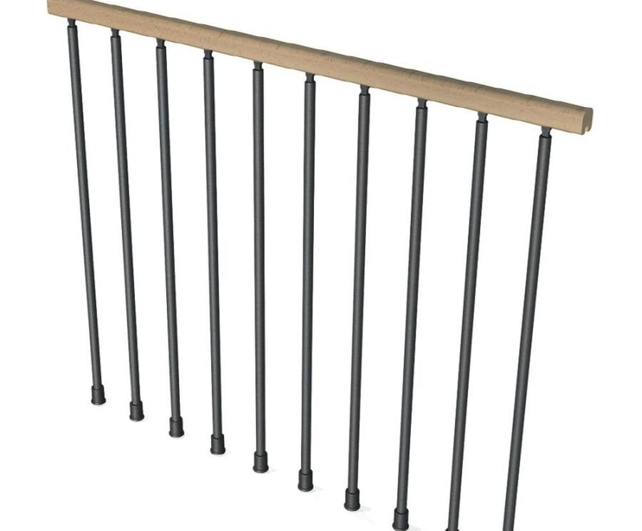 Powder Coated Steel Beechwood Stair Railing Kits At Lowes Com | Lowes Metal Stair Railing | Lowes Com | Aluminum Railing | Composite Deck Stair | Handrail Kit | Wood