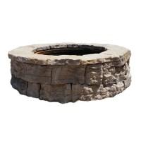Shop 58-in W x 58-in L Sandstone Wet Cast Concrete Fire ...