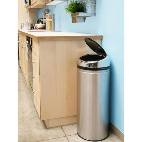 Itouchless 13-gallon Stainless Steel Metal Touchless Trash With Lid