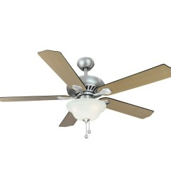 harbor breeze 52 in crosswinds brushed nickel ceiling fan with light kit [ 900 x 900 Pixel ]