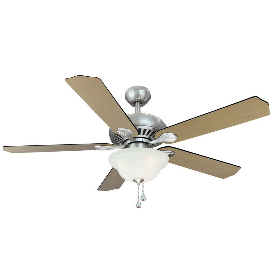 medium resolution of harbor breeze 52 in crosswinds brushed nickel ceiling fan with light kit