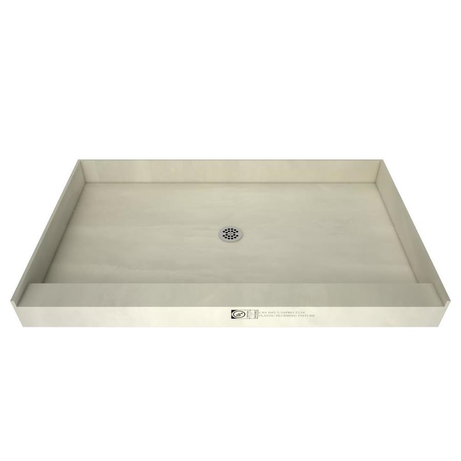 tile ready made for tile fiberglass plastic composite shower base 34 in w x 48 in l with center drain lowes com