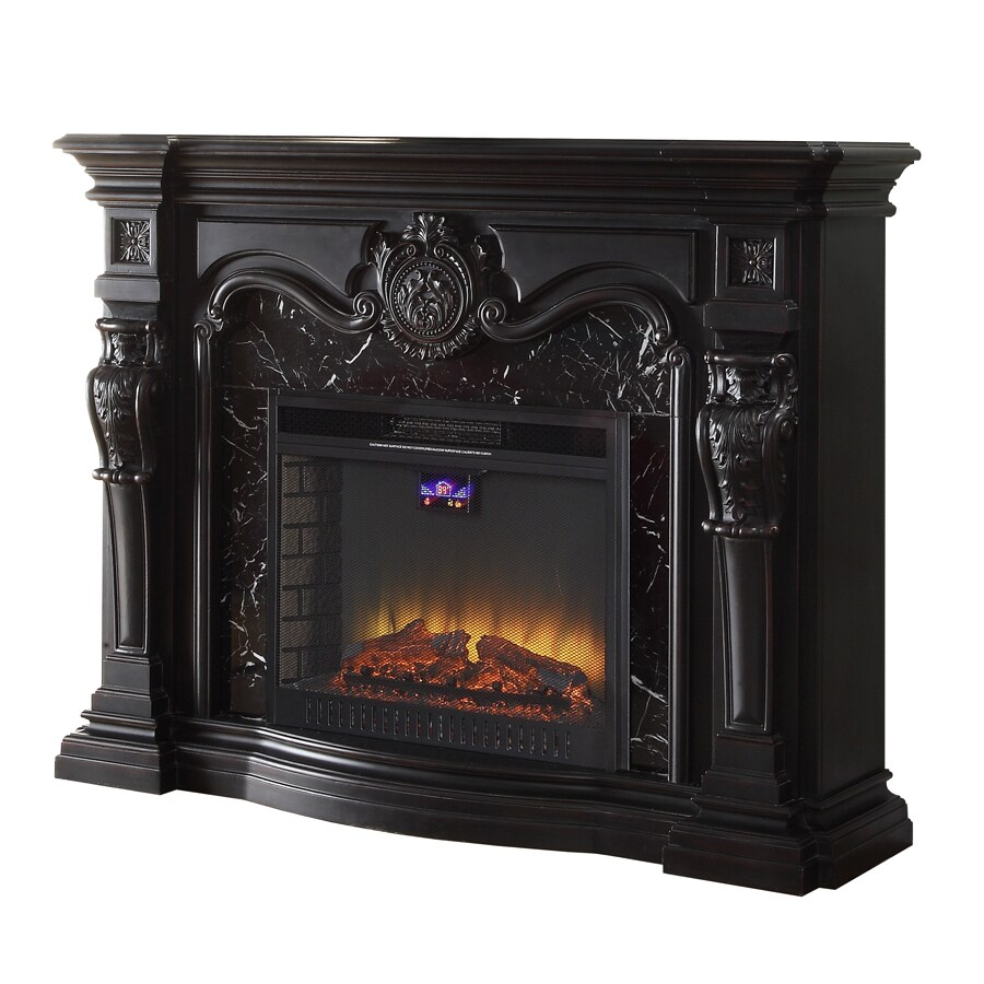 kitchen stoves at lowes delta shop febo flame 62-in w 5,120-btu black wood and metal fan ...