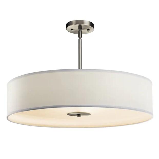 Drum Shade Semi Flush Mount Ceiling Light