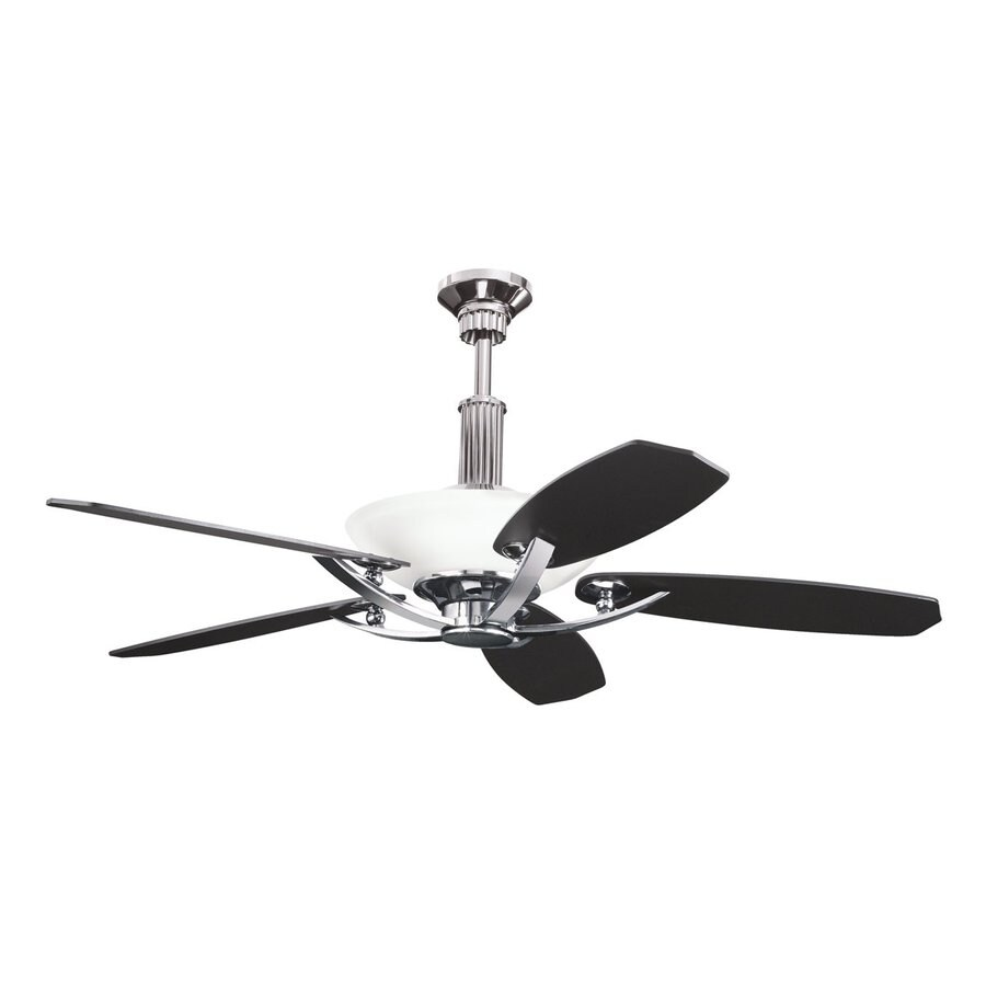 Shop Kichler Lighting Palla 56in Midnight Chrome Downrod Mount Indoor Ceiling Fan with Light