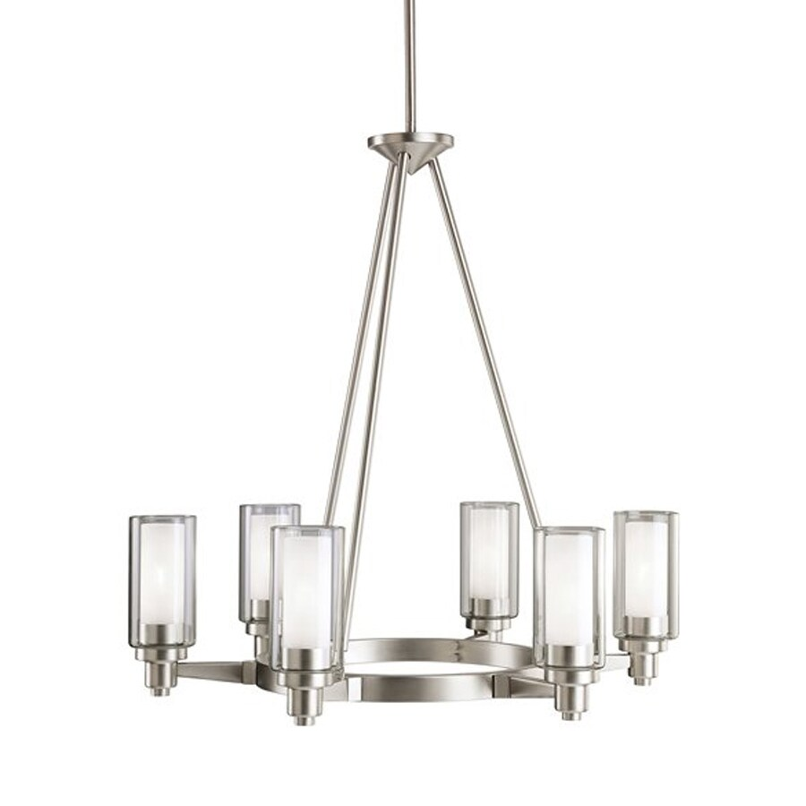 Shop Kichler Circolo 6-Light Brushed Nickel Clear Glass