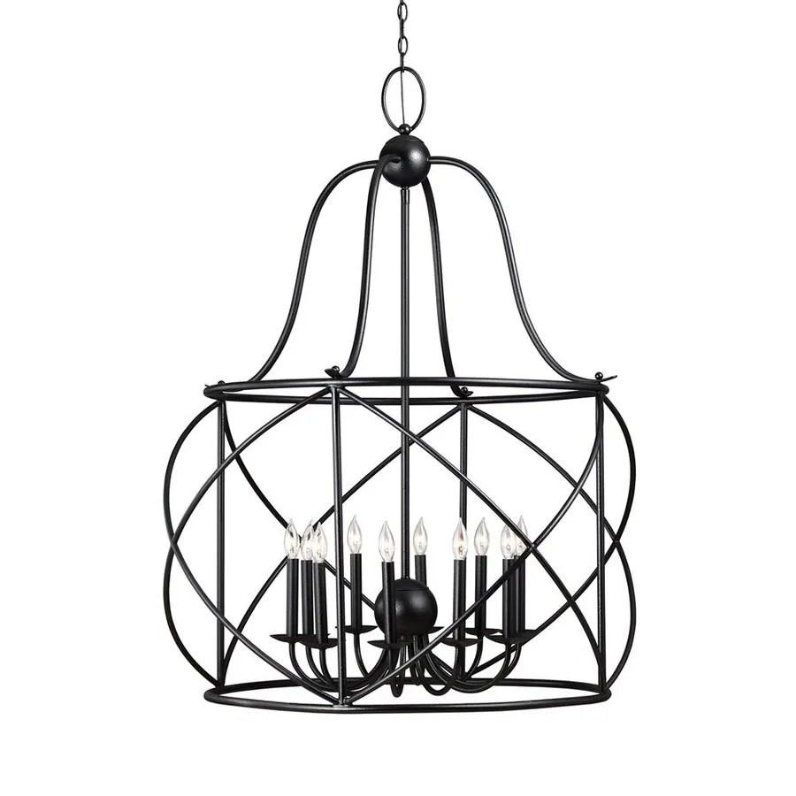 Shop Sea Gull Lighting Turbinio 37-in 10-Light Blacksmith