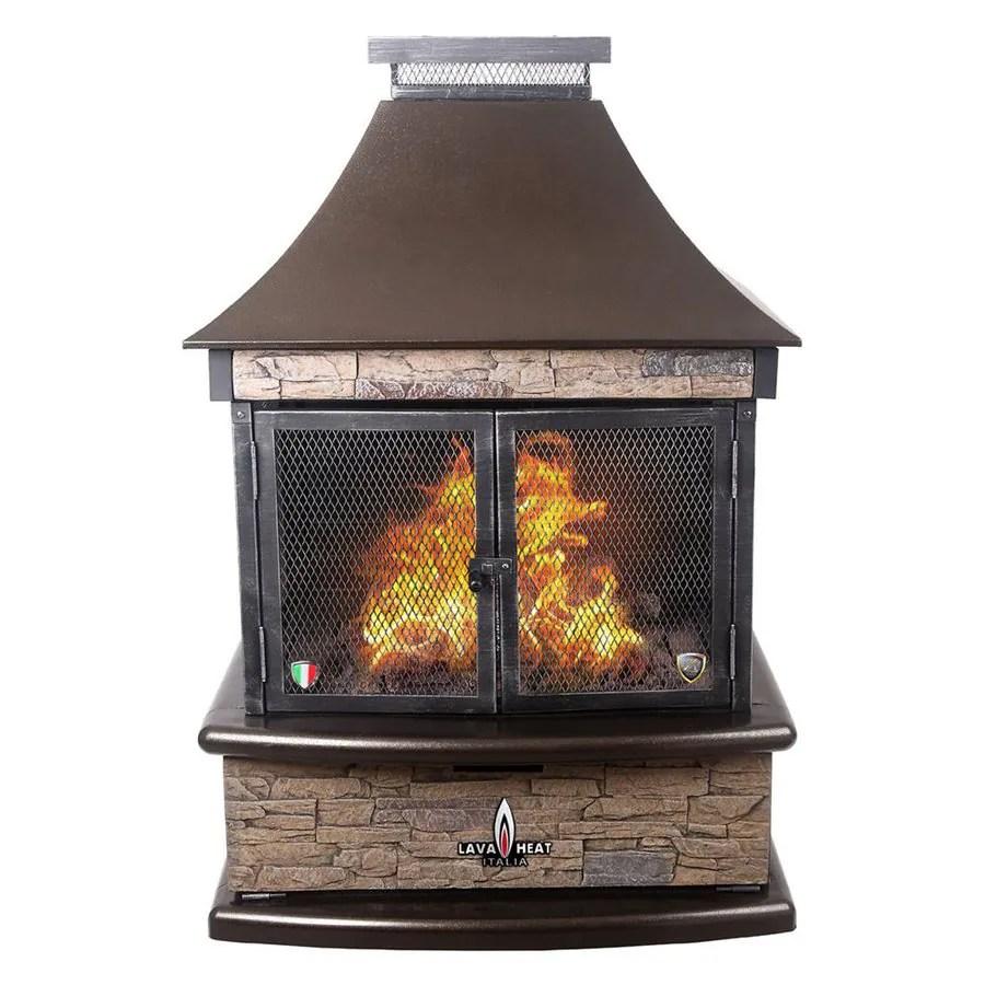 Lava Heat Italia 30000 BTU Heritage Bronze Steel Outdoor Liquid Propane Fireplace at Lowescom