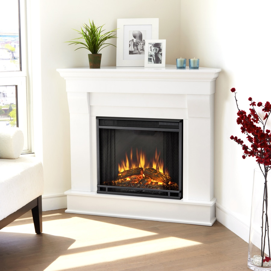 Shop Real Flame 409in W 4780BTU White Wood Corner LED