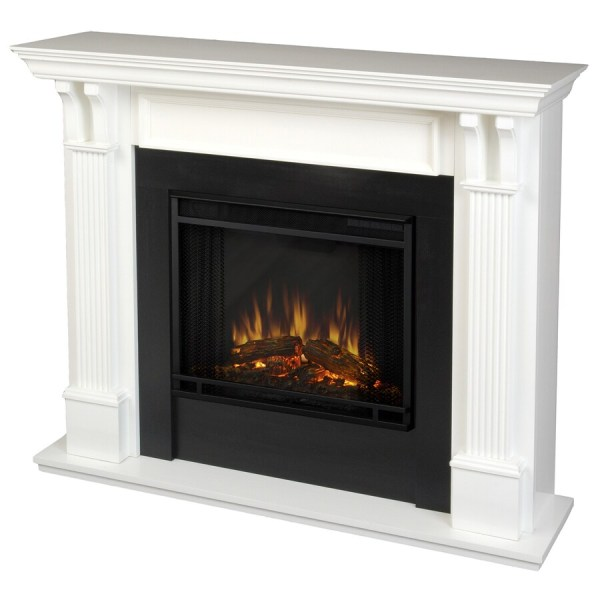 Real Flame 48-in 4 780-btu White Wood Wall Mount