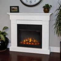 Shop Real Flame 47.4-in W 4780-BTU White Wood LED Electric ...